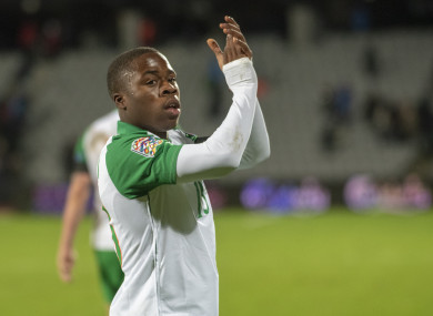 Michael Obafemi recently made his Ireland debut against Denmark.