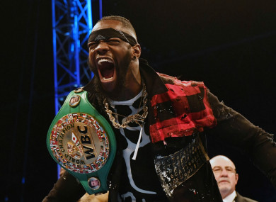 WBC heavyweight champion Deontay Wilder.