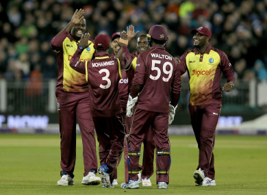 West Indies: Stormont game in 2017 was rained off.