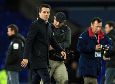 Everton boss Marco Silva.