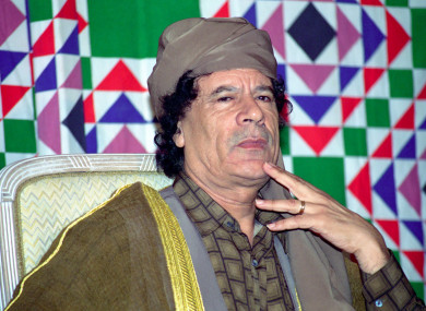 Gaddafi was killed in 2011. He's pictured he in 1996.