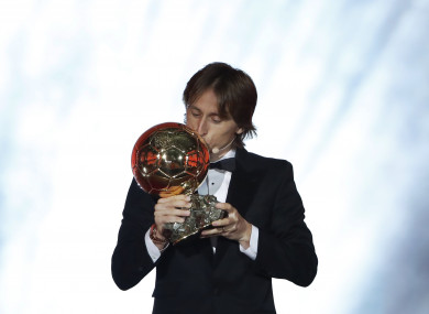 bb8fa949de4 Luka Modric edges out French World Cup stars to win 2018 Ballon d Or