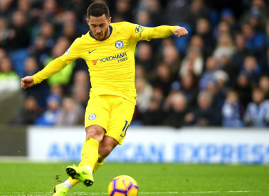 Eden Hazard scored one and set up another against Brighton and Hove Albion.