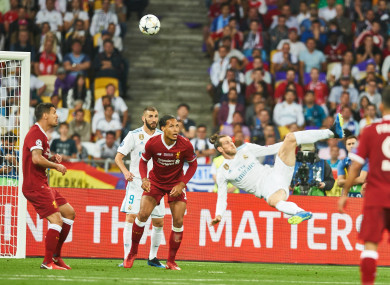 Gareth Bale scored a sublime overhead kick against Liverpool in the Champions League final.