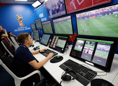 The system was initially used for this year's World Cup.