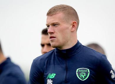 Republic of Ireland footballer James McClean