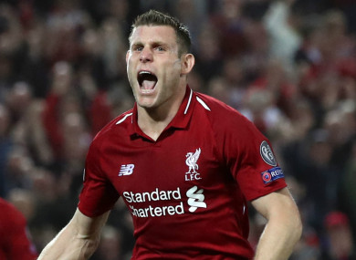 James Milner (file pic).