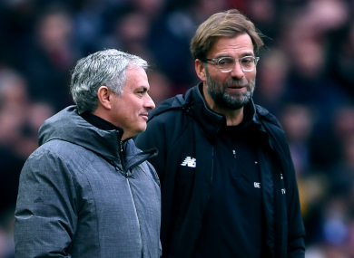 'Nobody can take away all the things he won,' said Klopp of Mourinho.