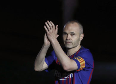 Andres Iniesta bid farewell to Barcelona after his last game against Real Sociedad in May.