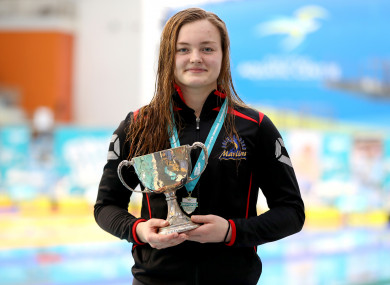 McSharry at the Irish Open Swimming Championships in April.