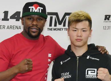 Floyd Mayweather Jr and Tenshin Nasukawa