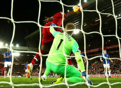 Divock Origi scores Liverpool's winner against Everton