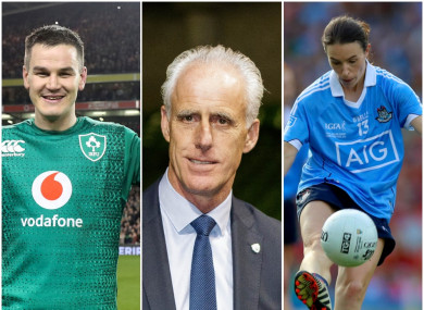 Johnny Sexton, Mick McCarthy and Sinéad Aherne.