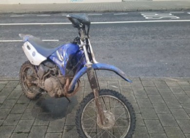 A seized scrambler bike.