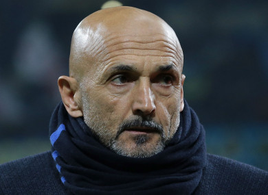 Inter coach Luciano Spalletti.