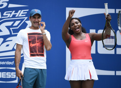 Federer and Williams in 2015.