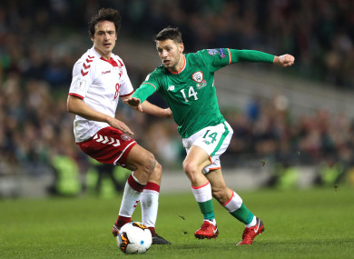Wes Hoolahan played his final game for Ireland in the World Cup play-off defeat to Denmark last year.