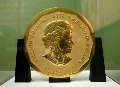 The 100 kilogram gold coin