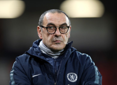 Maurizio Sarri was left frustrated after seeing his Chelsea team lose 4-0 to Bournemouth.