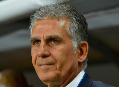 Iran coach Carlos Queiroz