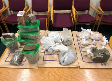Gardaí seized quantities of Heroin, Cannabis Herb, Cannabis Resin and Cocaine.