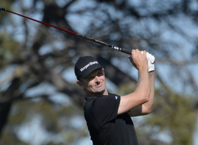 On the move: Justin Rose.