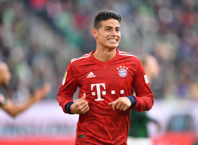 newest a8ef3 c1895 James Rodriguez 'playing for his future' at Bayern Munich ...
