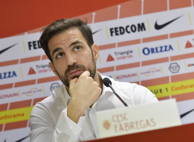 Cesc Fabregas breaks his silence over Thierry Henry's departure as Monaco manager.