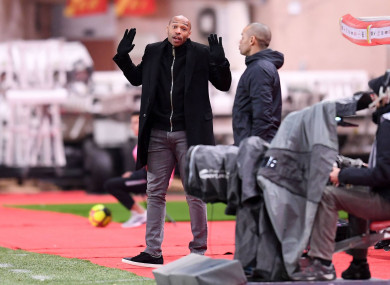 Thierry Henry's side are in horrendous form, losing 5-1 at home at the weekend and 3-1 tonight.