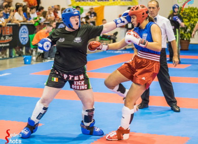 Jordan Doran (left) is one of Ireland's most talented kickboxers (photo by Seán Kelly/Seán's Shots).