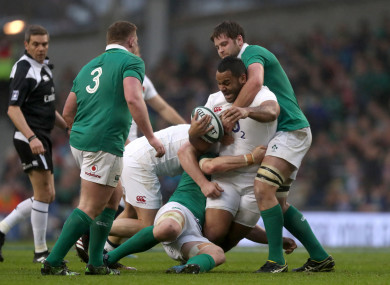 Billy Vunipola in action against Ireland during the 2017 Six Nations.