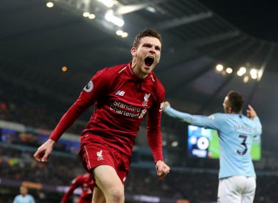 Robertson has established himself in Klopp's Liverpool side.