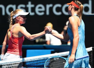 Russian star Maria Sharapova beat Harriet Dart 6-0, 6-0 in Australia overnight.