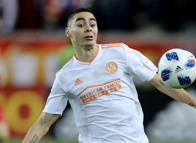New Newcastle United signing Miguel Almiron.