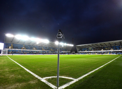 A general view of The Den, ahead of last night's FA Cup fourth round clash between Millwall and Everton.