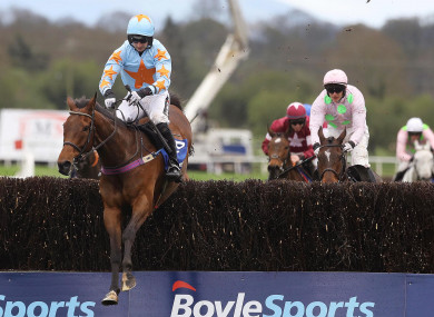 Un De Sceaux with Patrick Mullins on board, en route to victory at Punchestown last year.