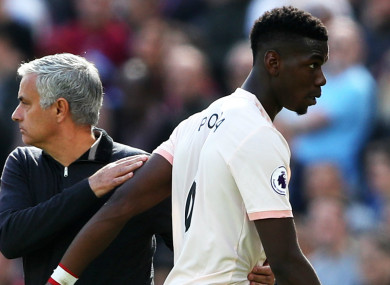 Jose Mourinho (L) and Manchester United star Paul Pogba (R) did not always see eye to eye.