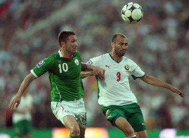 Ireland were held to a 1-1 draw in Sofia in March 2009.