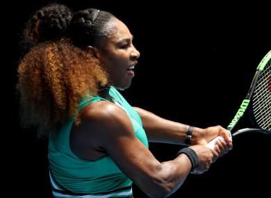 23-time grand slam champion Serena Williams.