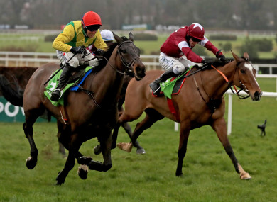 Sizing John en route to victory at Leopardstown in February 2017.