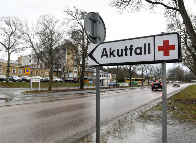 The hospital in Enköping which has received a case of suspected Ebola