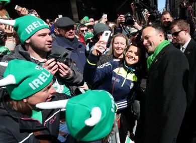 Taoiseach Leo Varadkar in the New York parade last year.