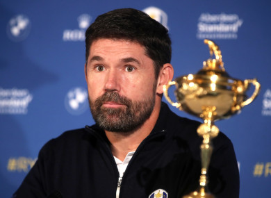 Harrington was today announced as the captain for the 2020 Ryder Cup,