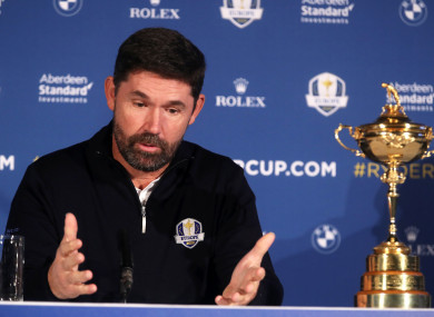 Padraig Harrington was this week named the Ryder Cup captain for 2020.