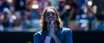 Tsitsipas, 20, will play either Rafael Nadal or Frances Tiafoe in the semis.