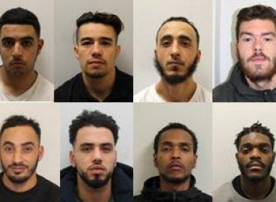 Images of the convicted men