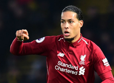 Virgil van Dijk has excelled for Liverpool this season.