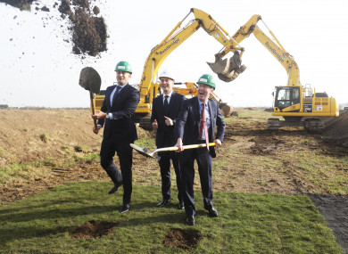 Official Sod turning for Dublin Airport's North Runway by the Taoiseach and Minister Shane Ross.
