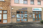 Graffiti sprayed on medical centre in Co Longford.