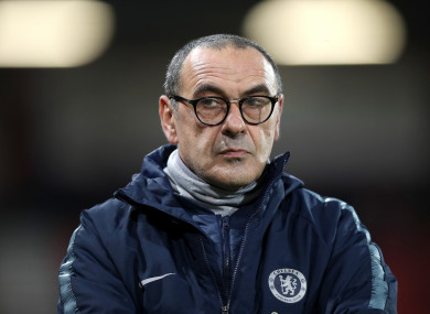 Chelsea manager Maurizio Sarri.